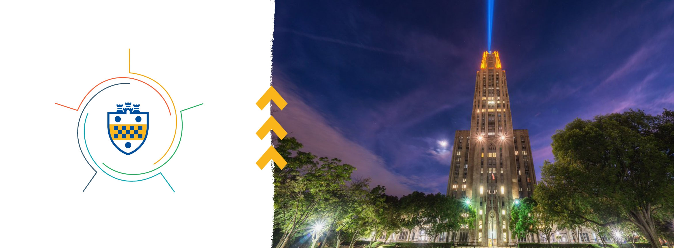 Cathedral of Learning and workplace graphic